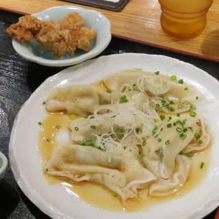 水餃子と鶏の唐揚げ定食