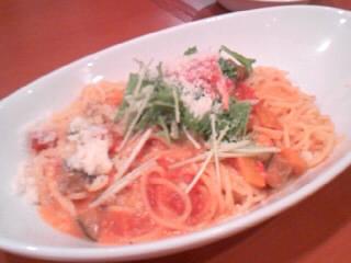 ずわい蟹と3種野菜のトマトクリーム