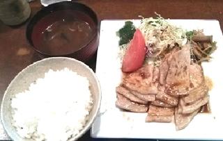 豚ロース生姜焼定食
