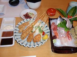 串フライ定食