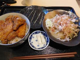 おろし蕎麦 ソースカツ丼セット