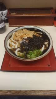 天ぷらうどんおぼろ昆布トッピング