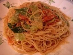 桜海老とレタスのスパゲッティ