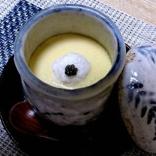 月コース 茶碗むし(フォアグラ、トリフ、キャビア)