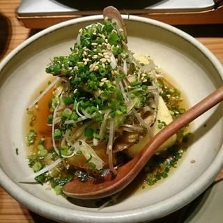 香味野菜揚げ出し秋刀魚