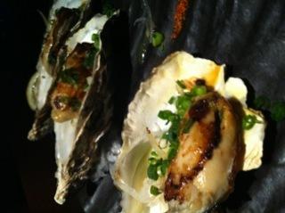 牡蠣の鉄板焼