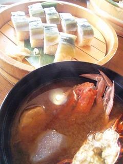 漁師汁とさんま寿司