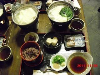 豆腐のコース料理