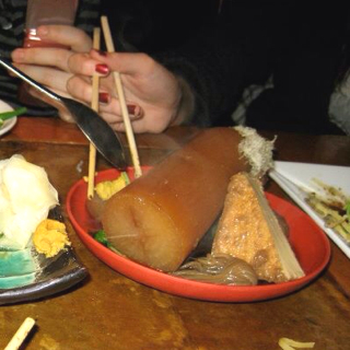日本一でっかい大根のおでん盛