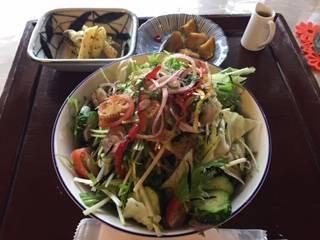 夏限定蕎麦サラダ