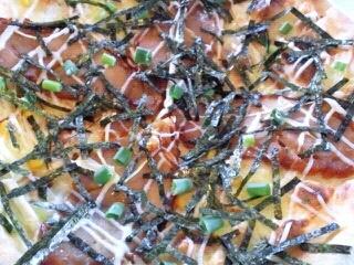 照り焼きチキンと青ネギマヨネーズのピッツァ