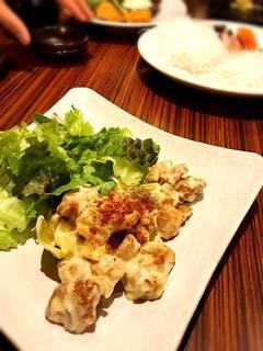 鶏と白葱のマヨネーズ炒め