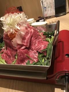 仙台牛のタワー鍋