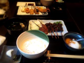 味噌煮込み串定食