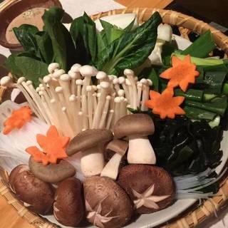 国産豚と野菜のしゃぶしゃぶ