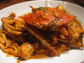 渡り蟹のトマトクリーム フェットチーネ