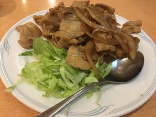 豚肉と玉ねぎ炒め定食