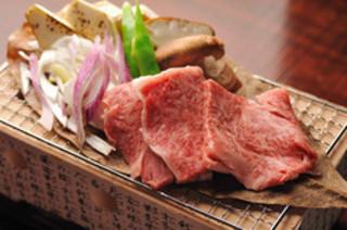 仙台牛の朴葉味噌焼き