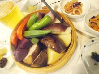 旬野菜のセイロ蒸し