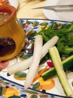 いろどり野菜のバーニャカウダソース
