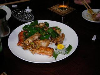 ワタリガニの炒め物