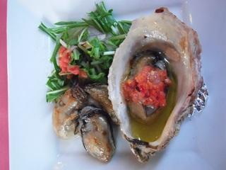 牡蠣のオードブル