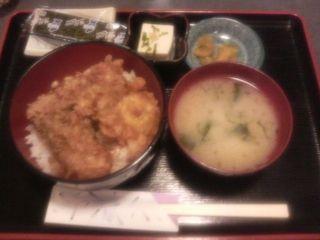 かき天ぷら丼