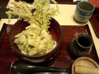 京野菜天ぷらおろしうどん