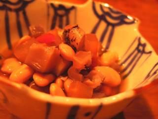 くるみ豆とツブ貝の煮豆
