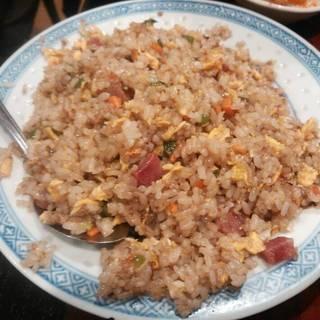 黒酢香腸炒飯