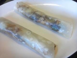 回鍋肉のクレープ包み