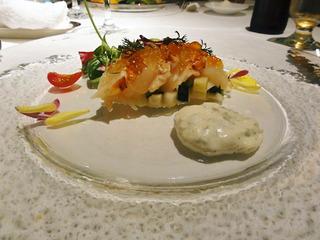 オマール海老と帆立貝のメダリオーネ コラトゥーラの軽いソースで