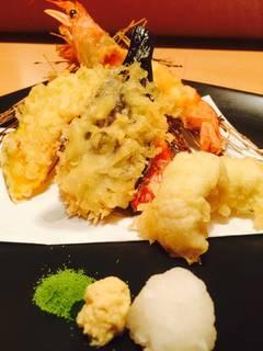 新鮮海老と旬野菜の天婦羅