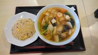 広東麺+半炒飯セット