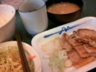 豚バラ焼肉定食