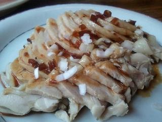鶏肉と葱の黒胡椒ソースがけ