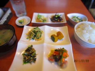 夏のお惣菜定食