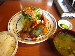 しそ巻海老フライ定食
