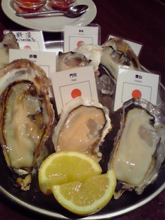 牡蠣の盛り合わせ