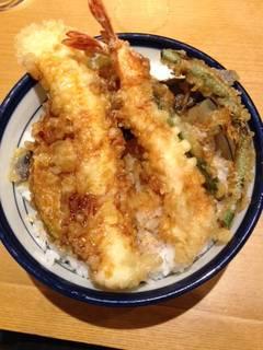 海老と大イカ天丼