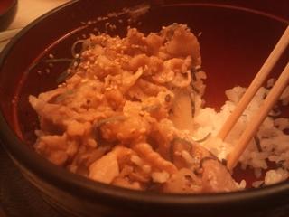 三元豚の塩カルビ丼定食