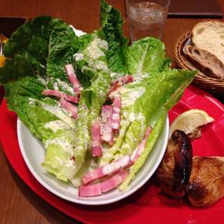 ロティサリーチキン1/4&シザーサラダ