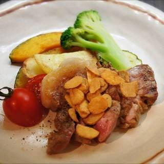 美星豚と野菜のグリル