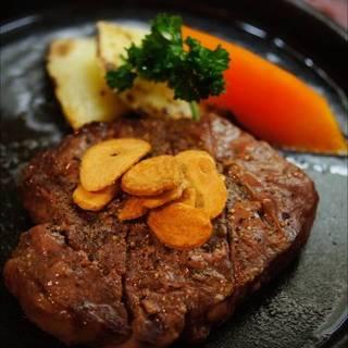 国産牛ロースステーキ鉄板焼き