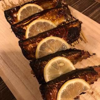 秋刀魚の塩レモン焼き