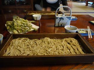 板そば(並盛り)+天ぷら