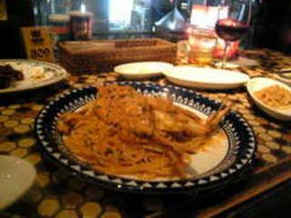 バルバラ特製丸ごとワタリガニのトマトクリームパスタ
