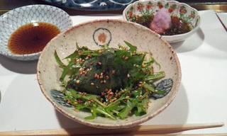 水菜とモロヘイヤ