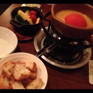 丸ごとトマトのチーズフォンデュ~ブルーチーズ入り~