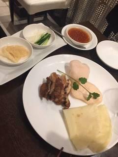油淋鶏と揚げ湯葉のの北京ダック風